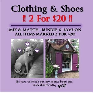 2 For $20 - Clothing & Shoes When Bundled